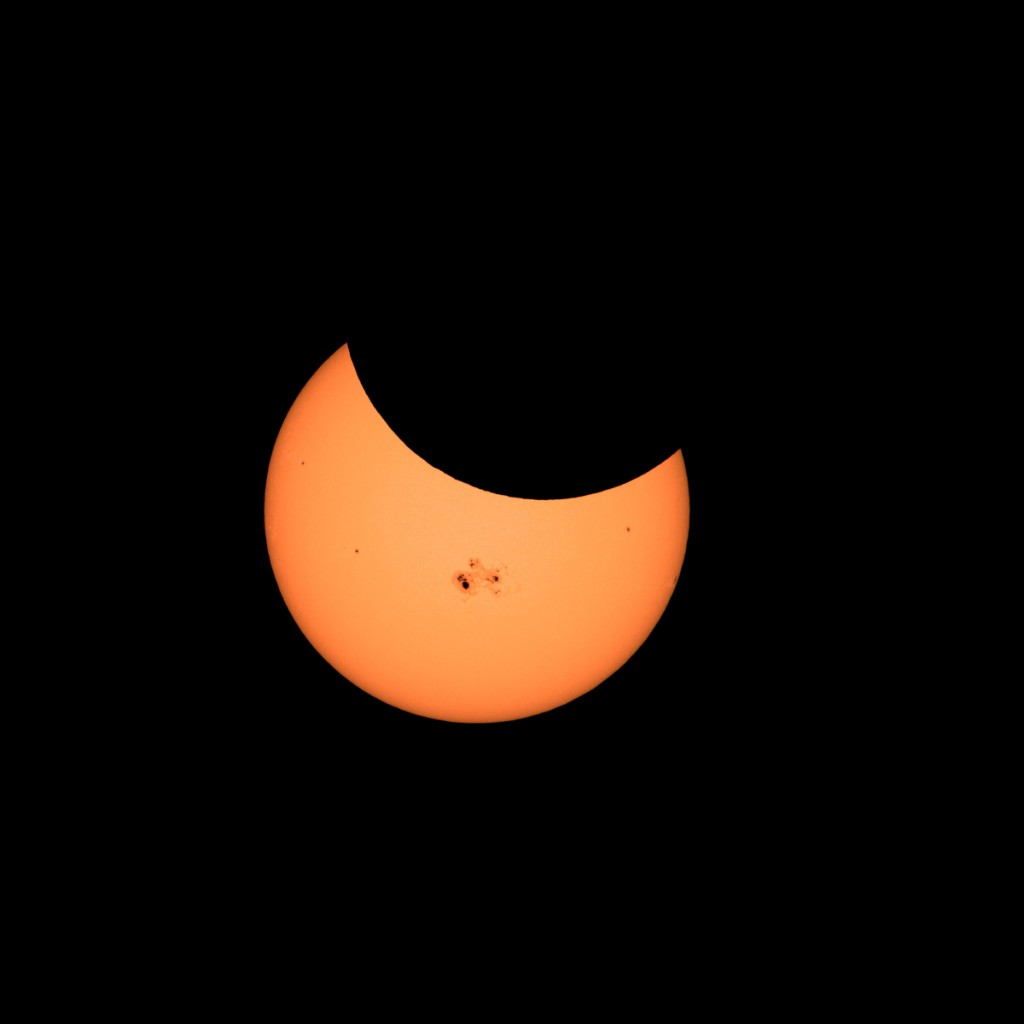 Partial Solar Eclipse-Oct. 23, 2014. From Buena Park, CA